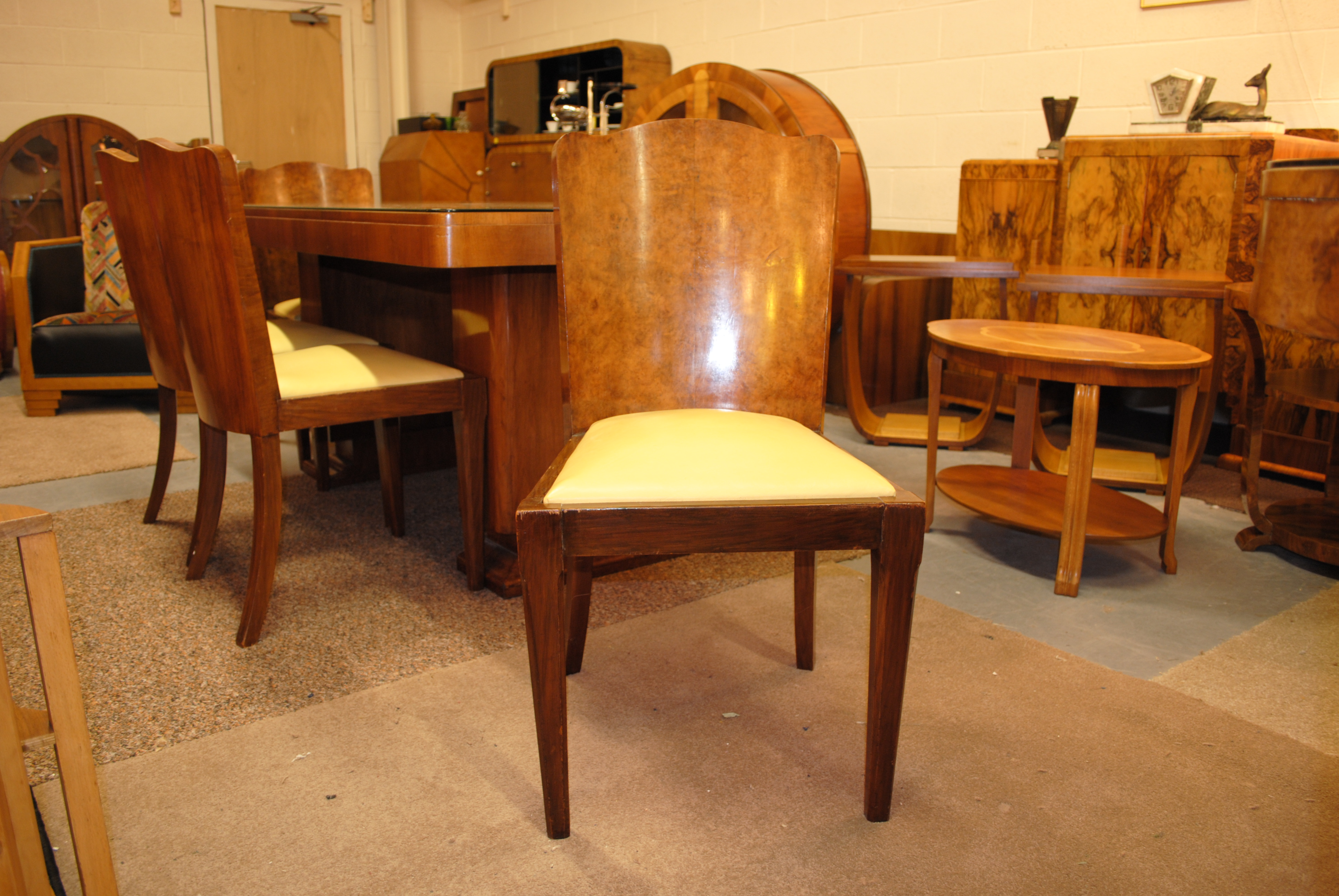 Art Deco Dining Table And 6 Chairs Cloud 9 Art Deco Furniture Sales