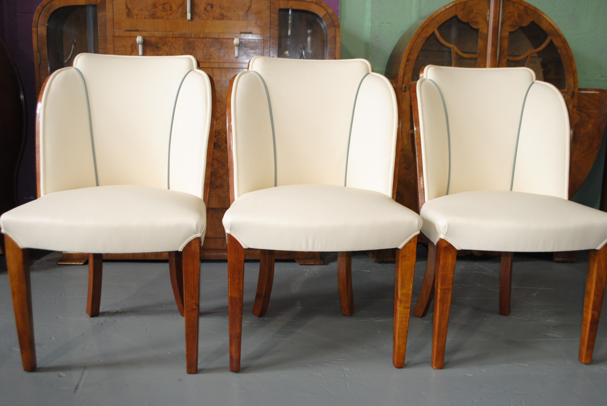 Enquire About Epstein Dining Table And 6 Cloud Back Chairs In Fiddle Maple