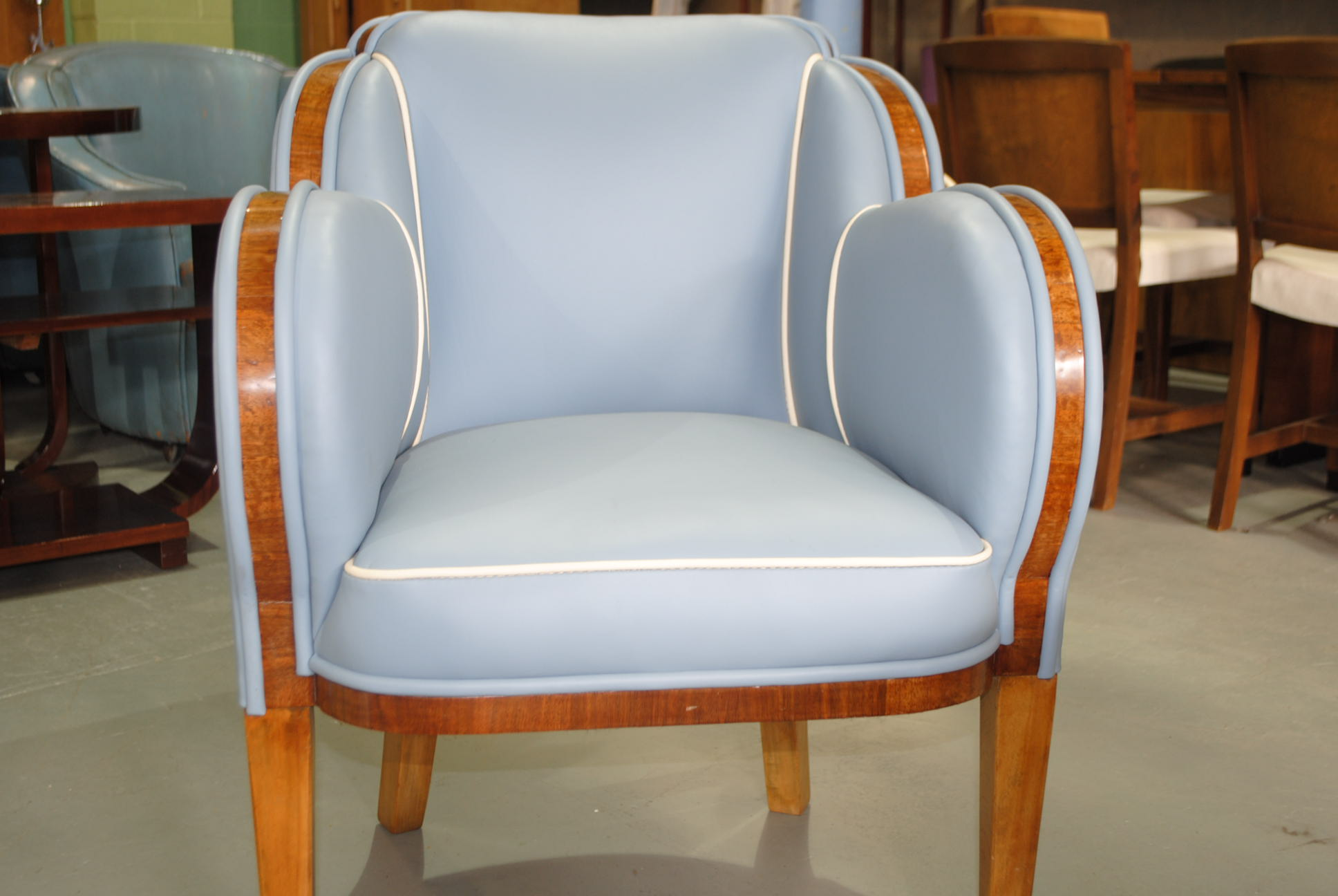 Epstein art deco occasional chair cloud 9 art deco furniture sales - Epstein art deco furniture ...