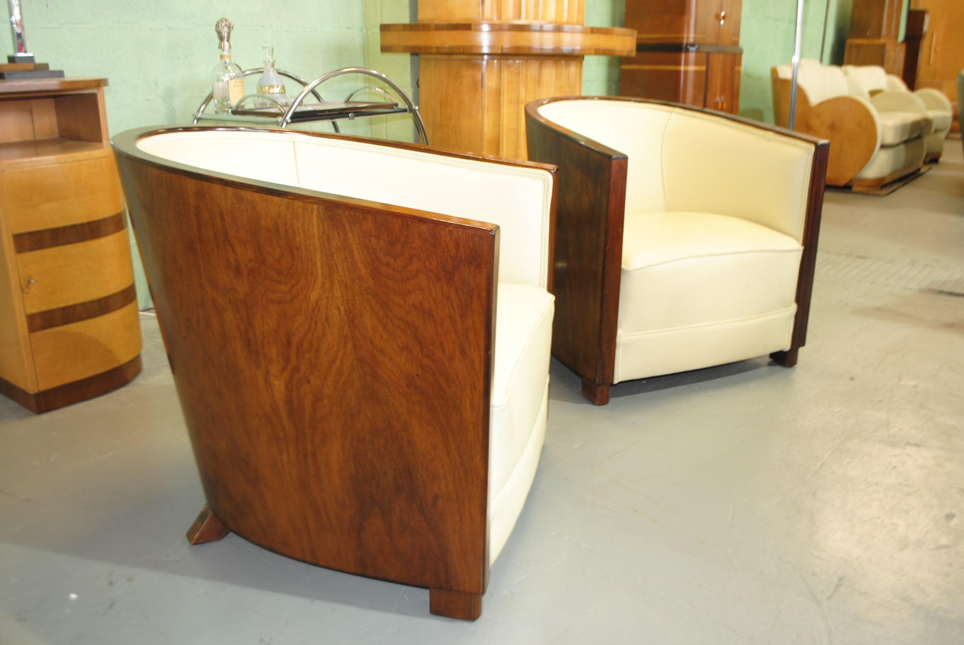 Art Deco Club Chairs Cloud 9 Art Deco Furniture Sales