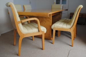 Art Deco Dining Table and 6 Chairs