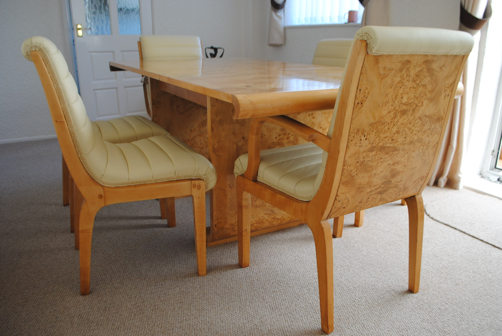 Art Deco Dining Table Chairs Norma Ian Durham Cloud Nou Furniture Sales
