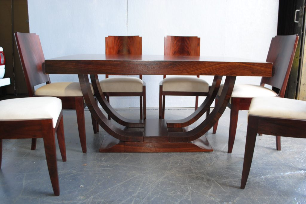 Art deco dining table and 6 chairs cloud 9 art deco furniture sales - Art deco dining room table ...