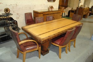 original maurice adams art deco dining table and 8 chairs with matching sideboard art deco dining table 8