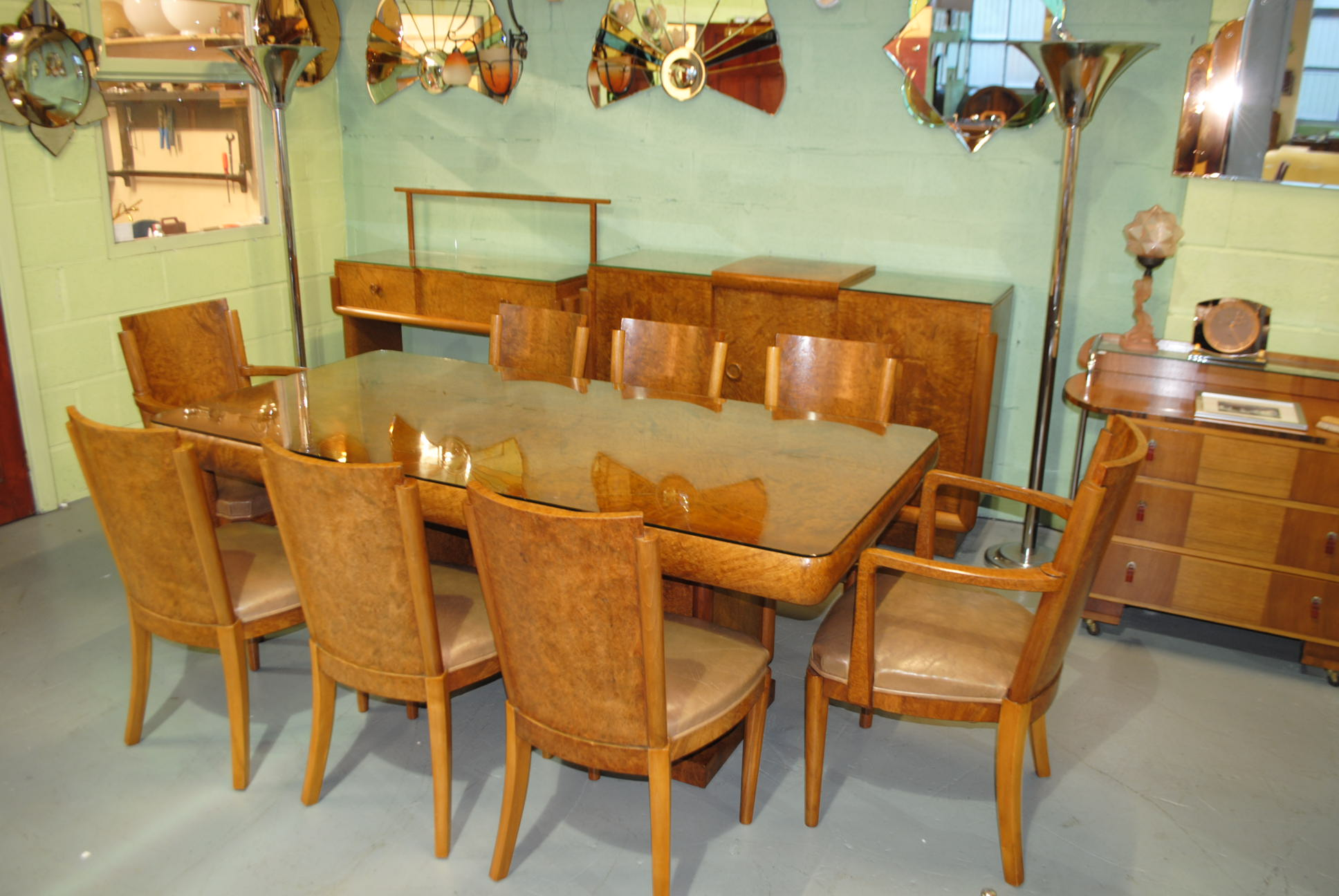 Art Deco Hille Dining Room Suite Cloud  Art Deco Furniture Sales - Art deco dining rooms