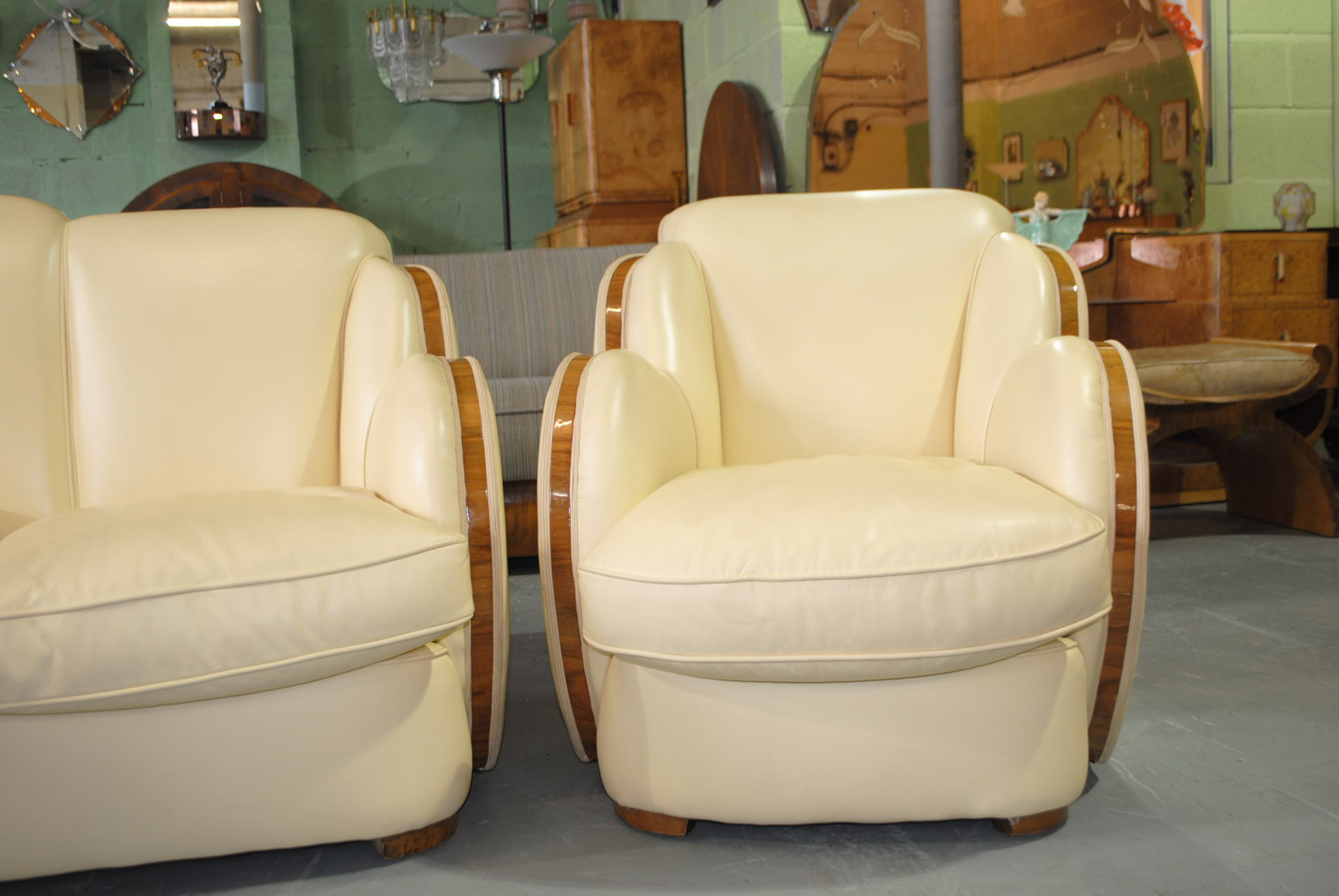 Art deco epstein 3 piece cloudback suite cloud 9 art deco furniture sales - Epstein art deco furniture ...