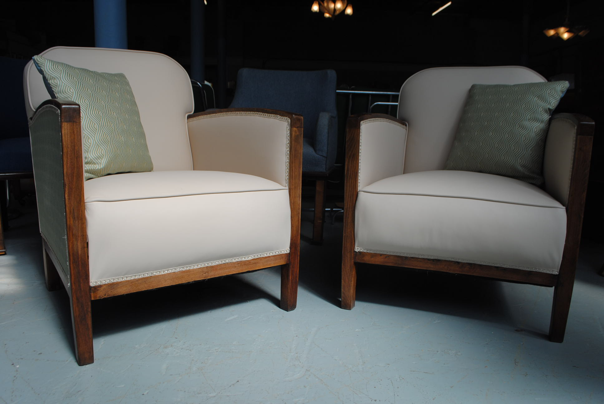 Pair Of Art Deco Fireside Chairs Cloud 9 Art Deco