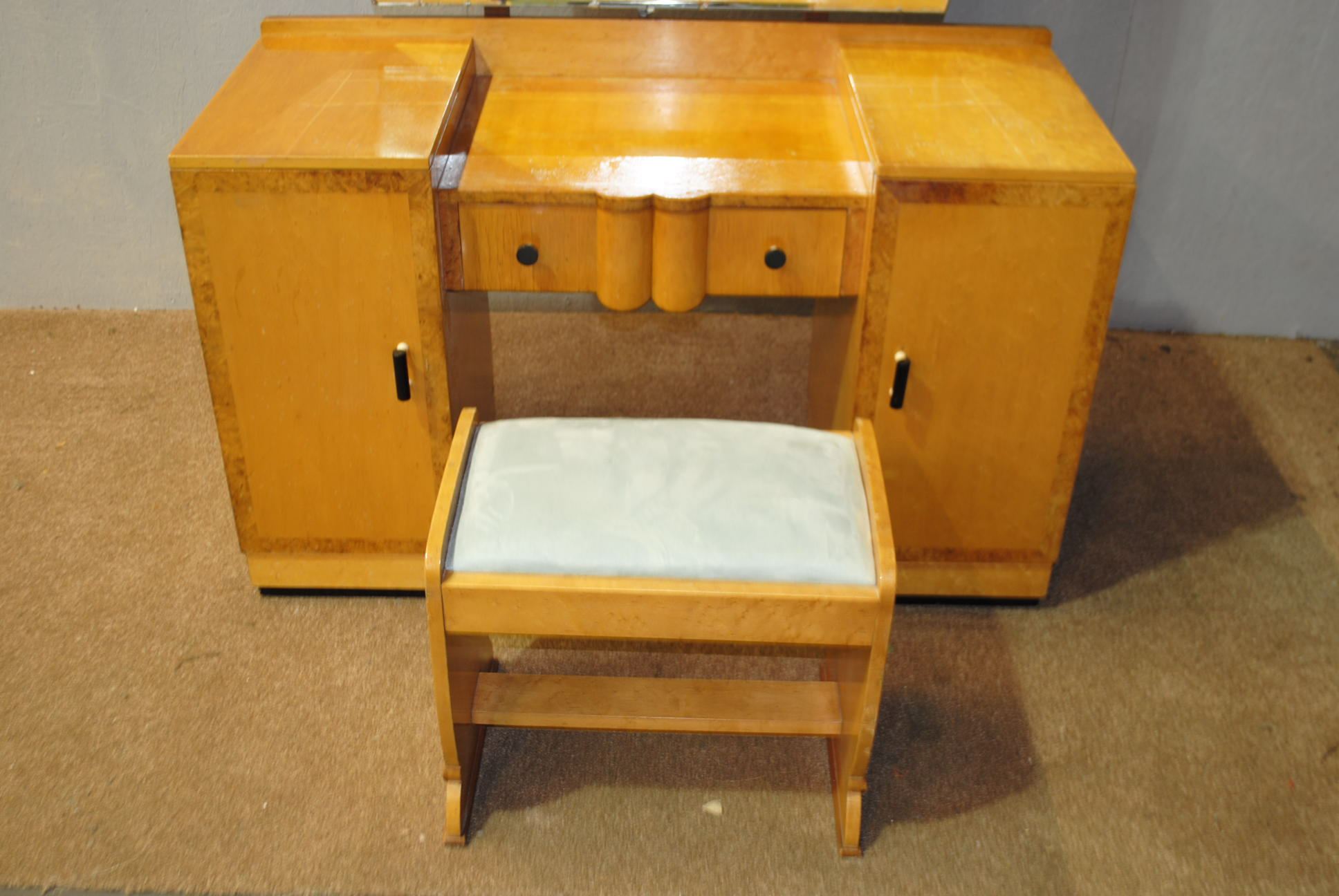 Art Deco Dressing Table With Stool Cloud 9 Art Deco Furniture Sales