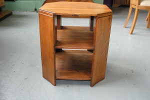 art deco oak and walnut book table art deco style furniture occasional coffee