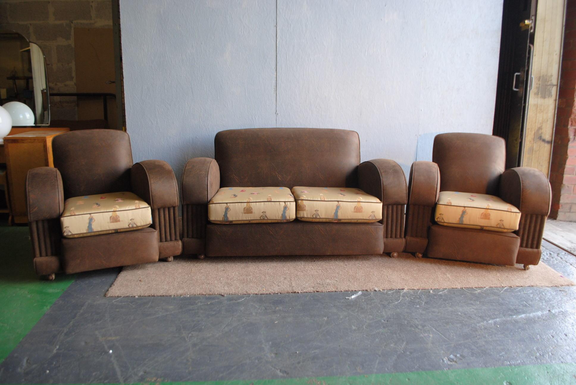 Art Deco 3 Piece Suite Cloud 9 Art Deco Furniture Sales