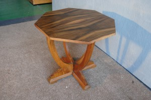 art deco coffee table with octagonal walnut top art deco style furniture occasional coffee