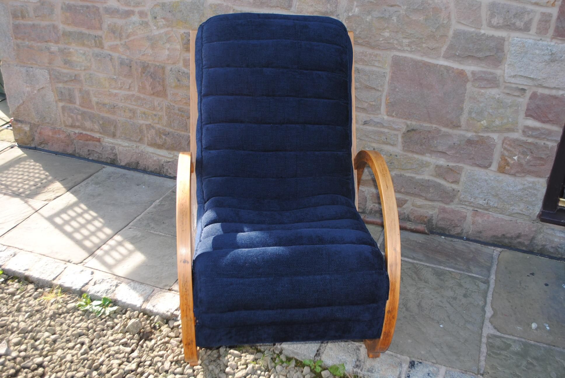 Art Deco Bentwood Lounge Chair Cloud 9 Art Deco Furniture Sales