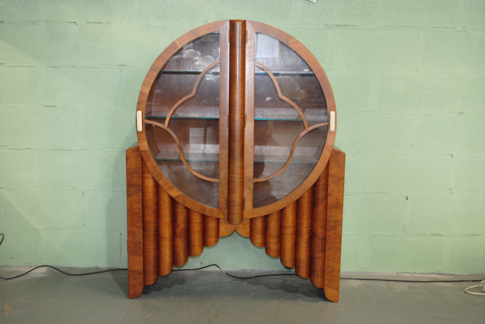 Art Deco Walnut Rocket Cabinet Cloud 9 Art Deco