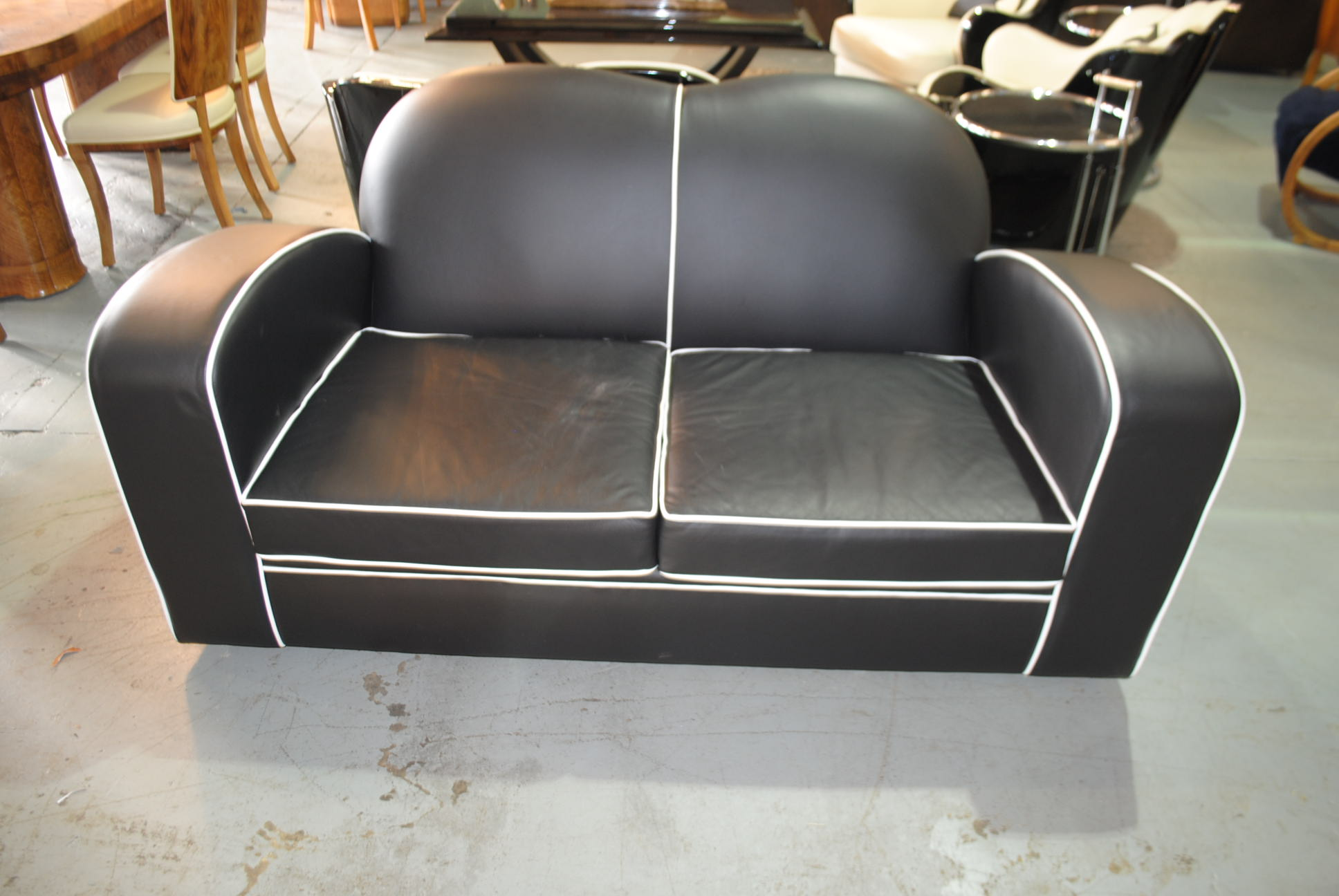 Art Deco Leather Sofa || Cloud 9, Art Deco Furniture Sales