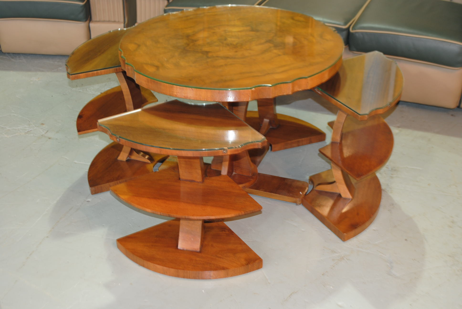 Art Deco Epstein Airplane Nest Of Tables Cloud 9 Art