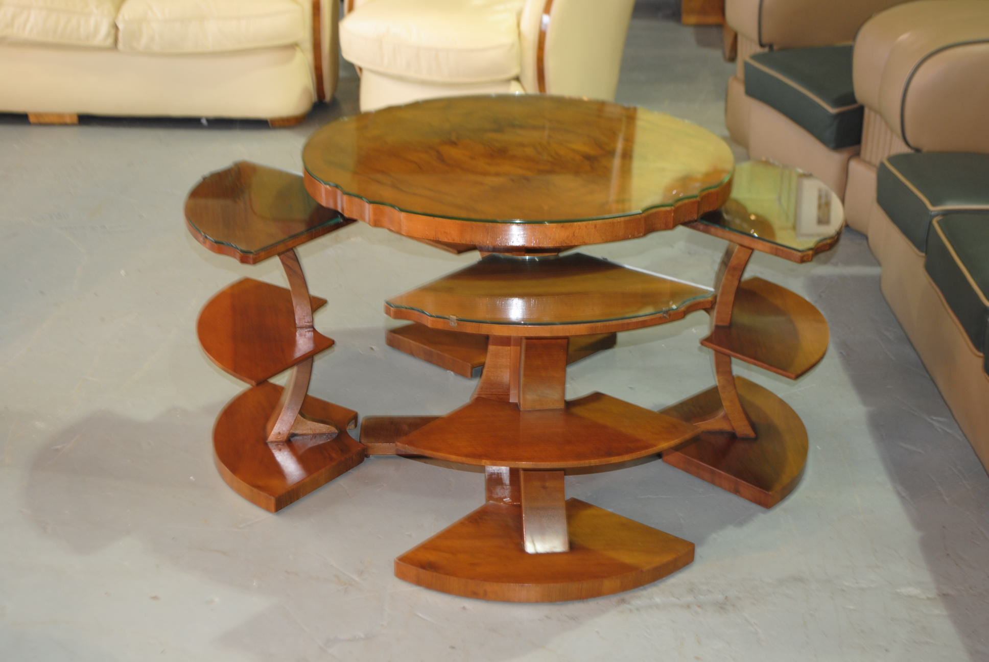 Art deco epstein airplane nest of tables cloud 9 art deco furniture sales - Epstein art deco furniture ...