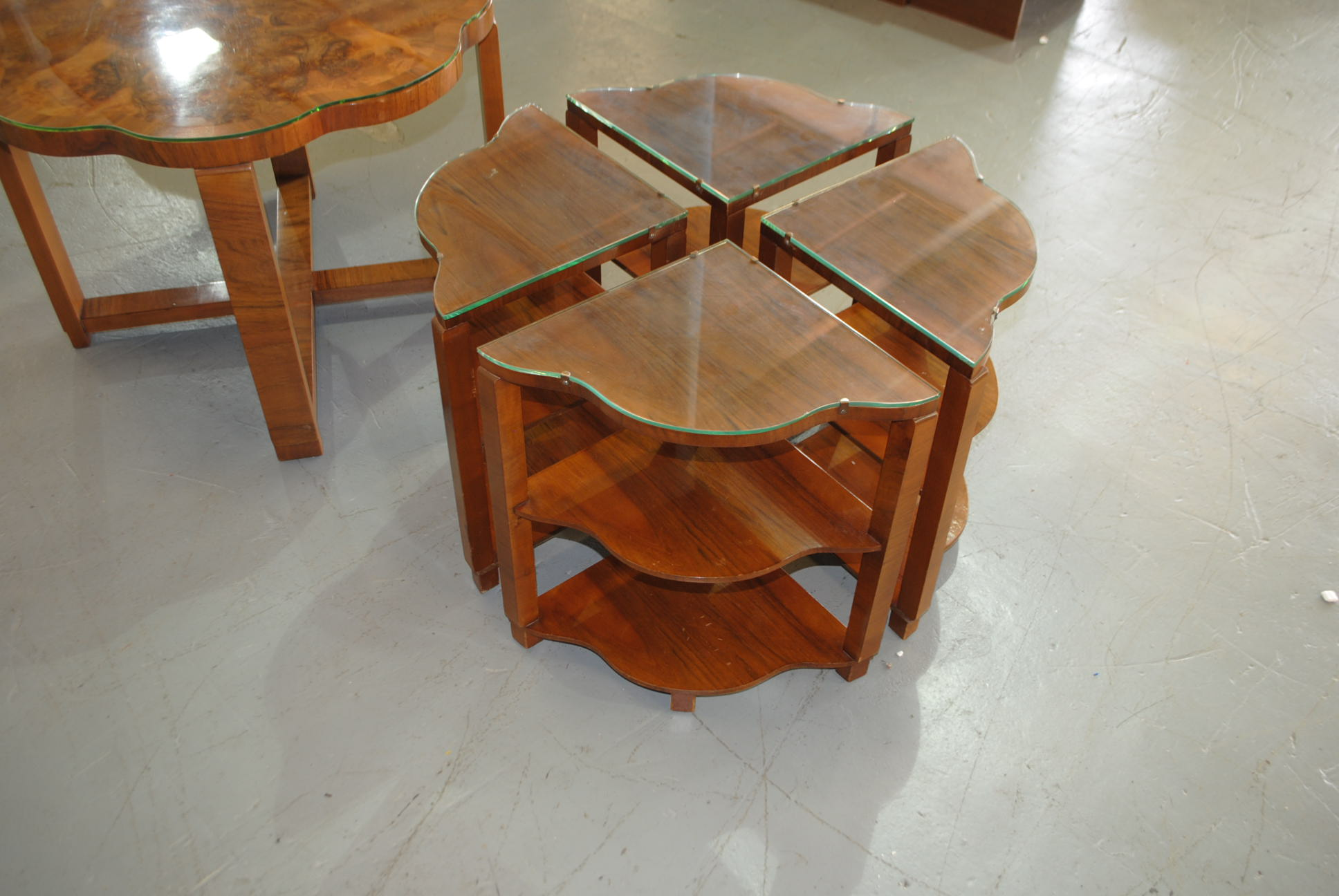 Art deco epstein nest of tables cloud 9 art deco furniture sales - Epstein art deco furniture ...