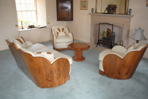 5 Piece Cloud Back Suite Reupholstered and polished by Cloud 9