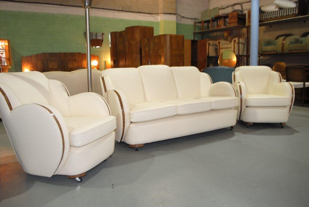 Art Deco Epstein Cloudback 3 Peice Suite Cloud 9 Art
