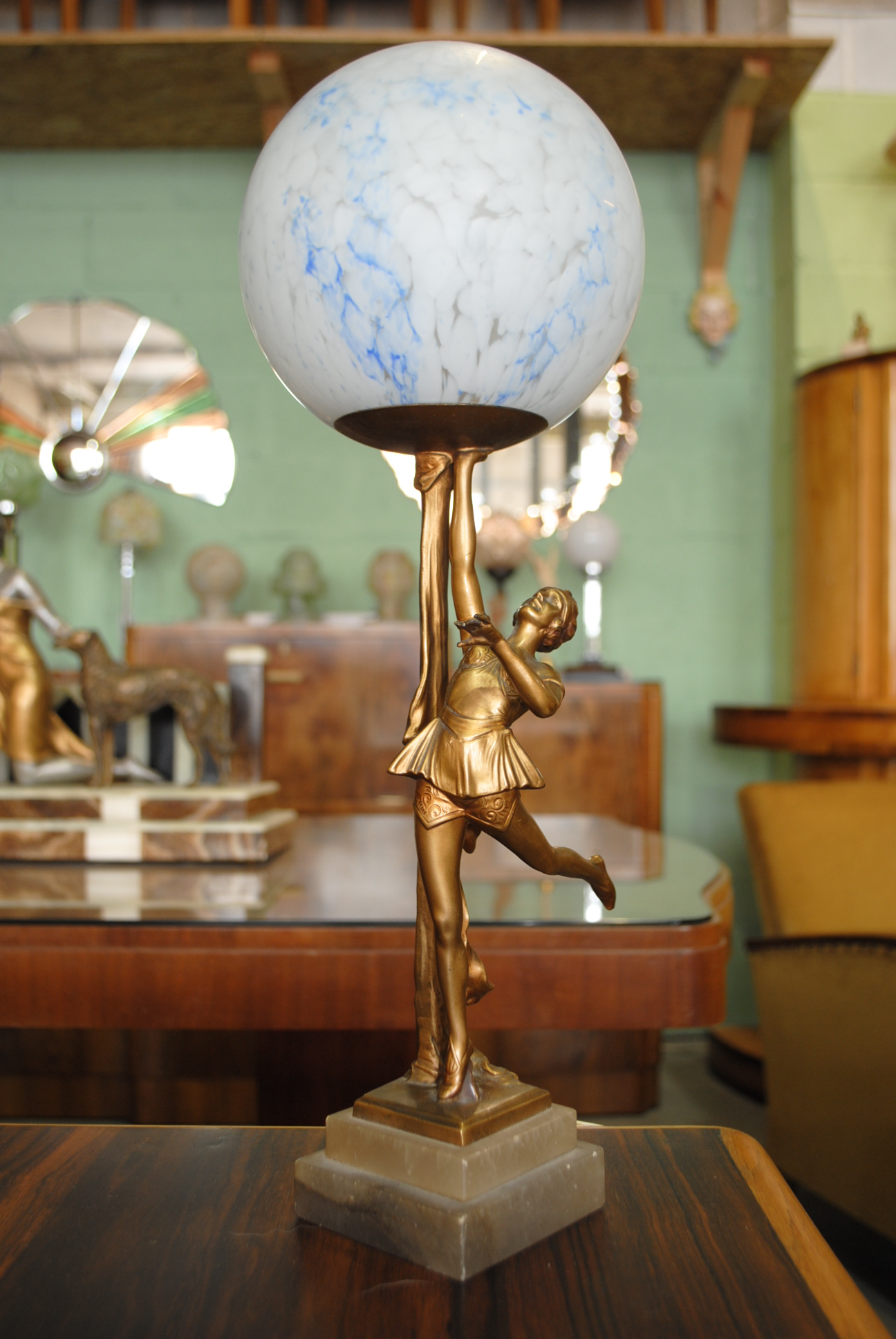 Art Deco Lady Lamp Cloud 9 Art Deco Furniture Sales