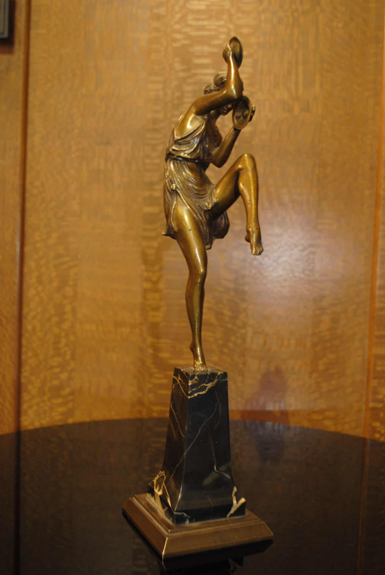 Art Deco Bronze Pierre Le Faguays Dancer With Cymbals
