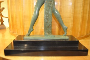 spelter art deco figure