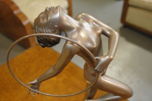 art deco bronze statue