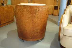 Art Deco Epstein Cloudback 3 piece suite with Burr Walnut Back