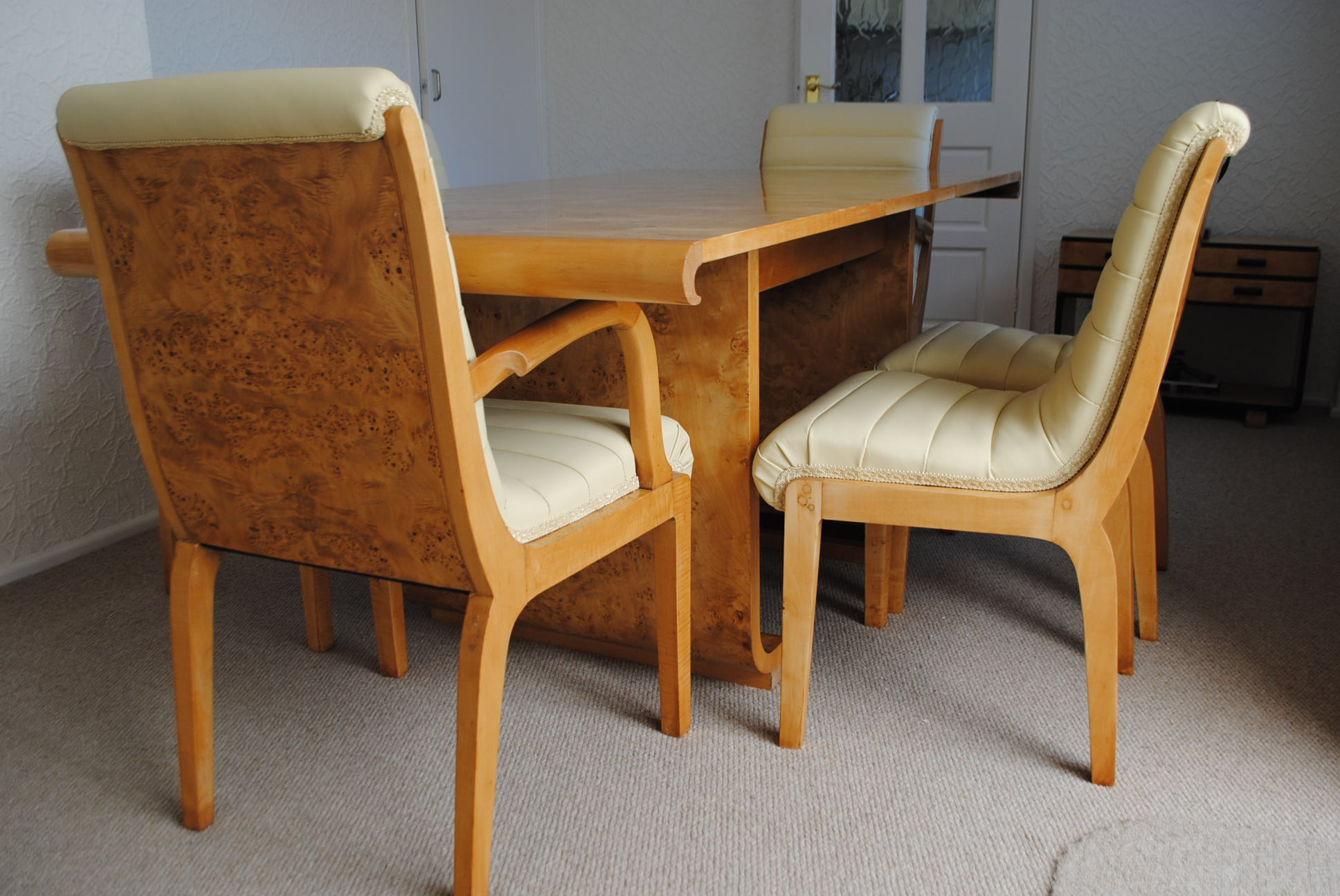 art deco era furniture. Art Deco Dining Table And 6 Chairs Era Furniture