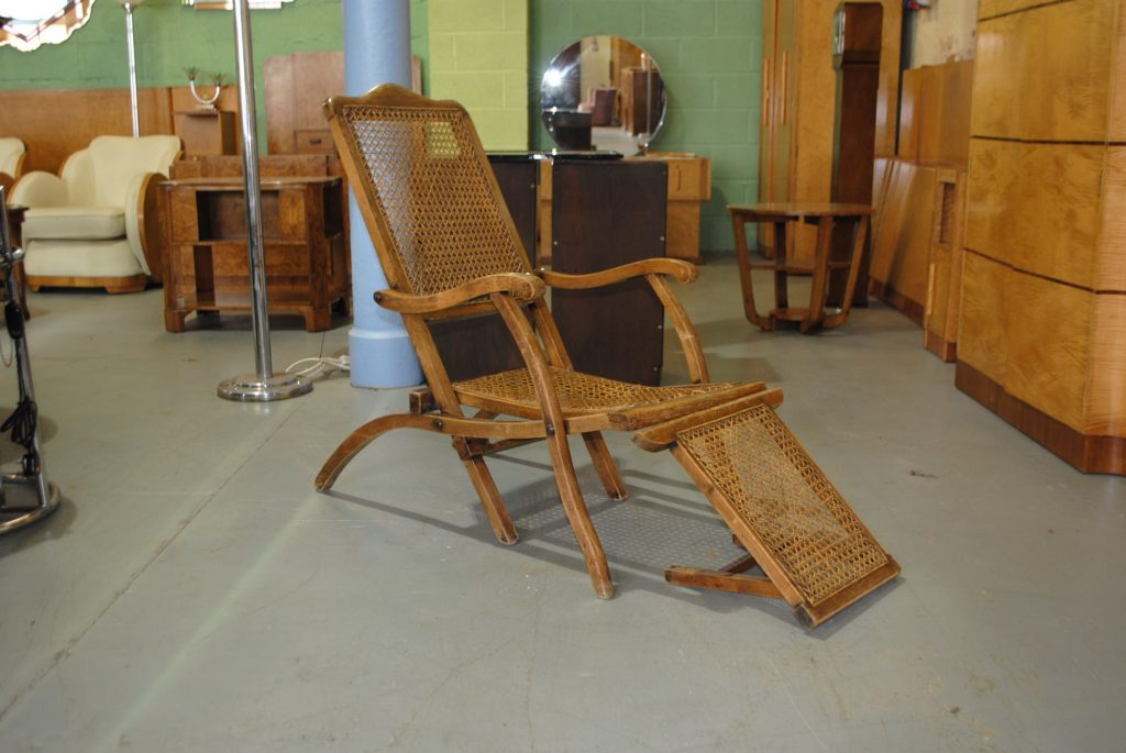 Original Art Deco Steamer Chair