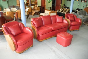 Epstein Walnut Cloudback 3 piece suite