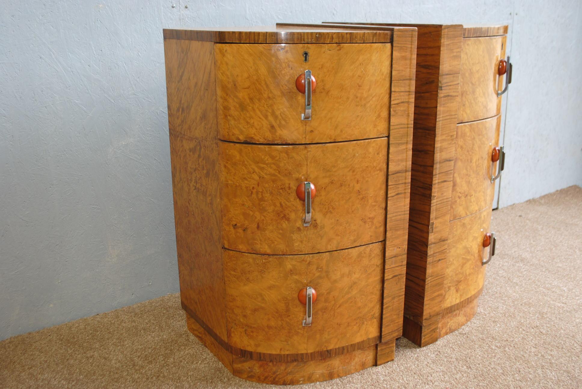 Art Deco Bedside Cabinets Cloud 9 Art Deco Furniture Sales