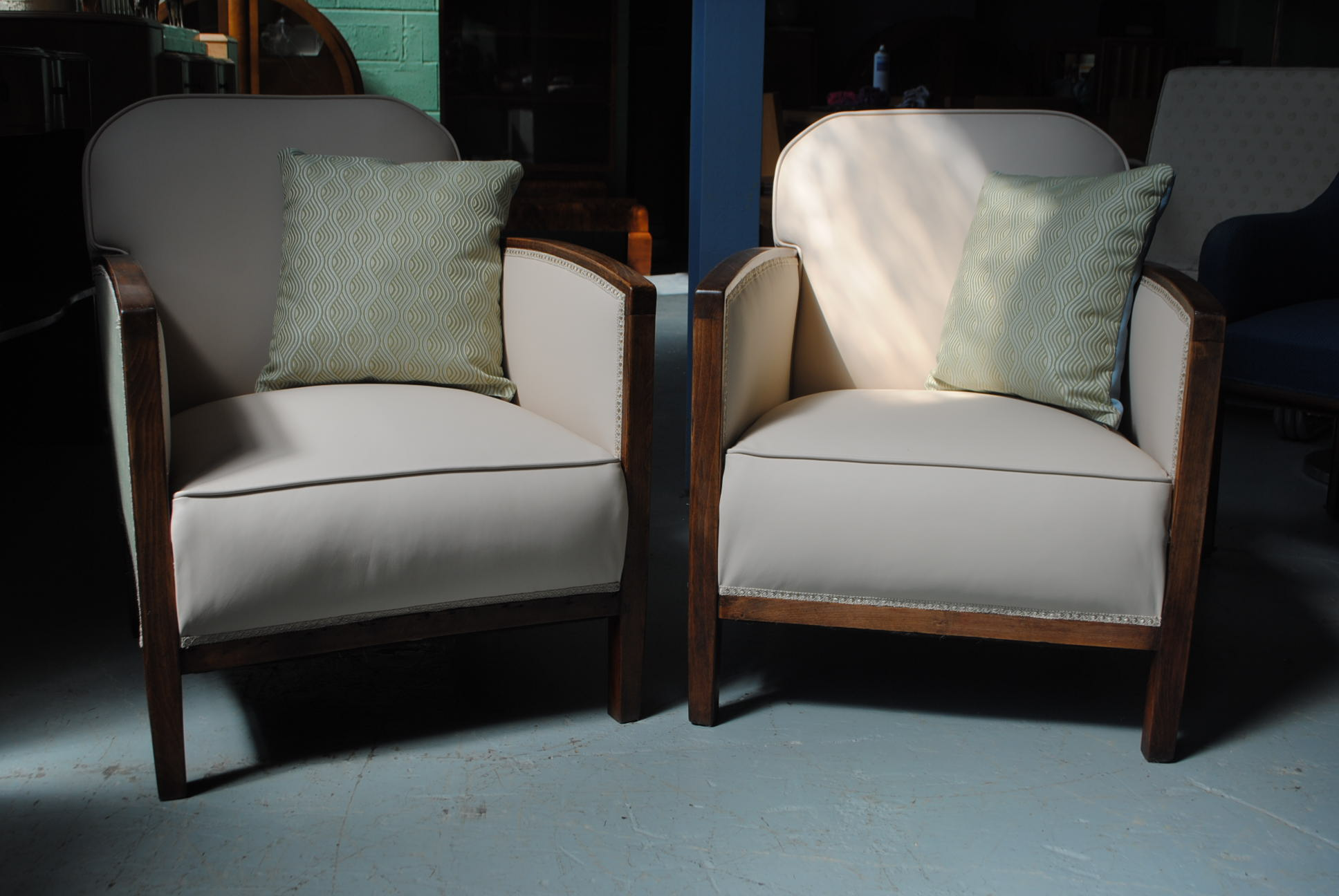 Pair of art deco fireside chairs cloud 9 art deco - What is art deco ...