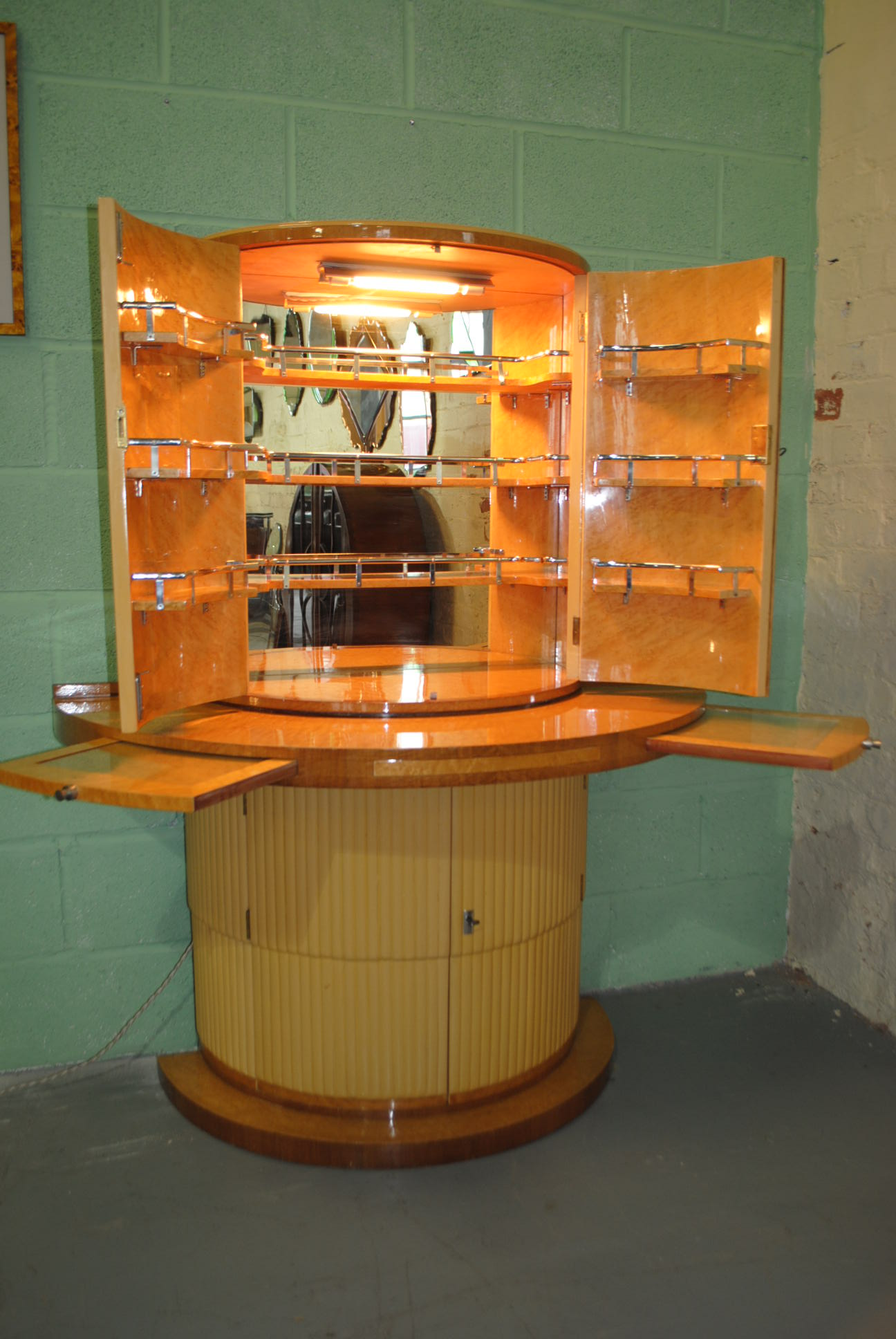 Art Deco Maurice Adams Cocktail Cabinet Cloud 9 Art