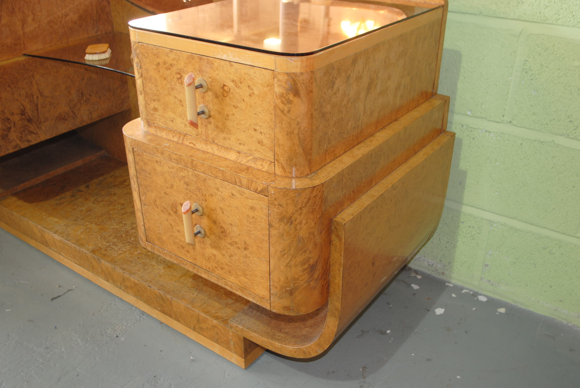Epstein art deco dressing table and stool cloud 9 art deco furniture sales - Epstein art deco furniture ...