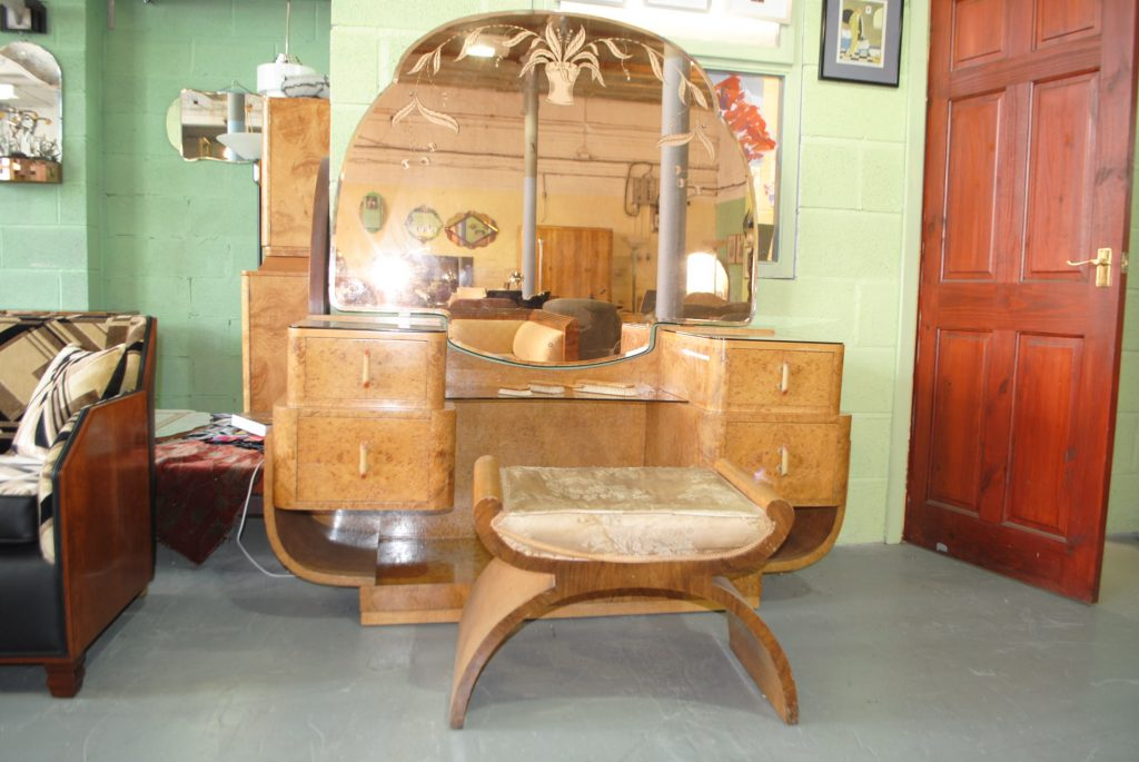 Art Deco Dressing Table and Stool