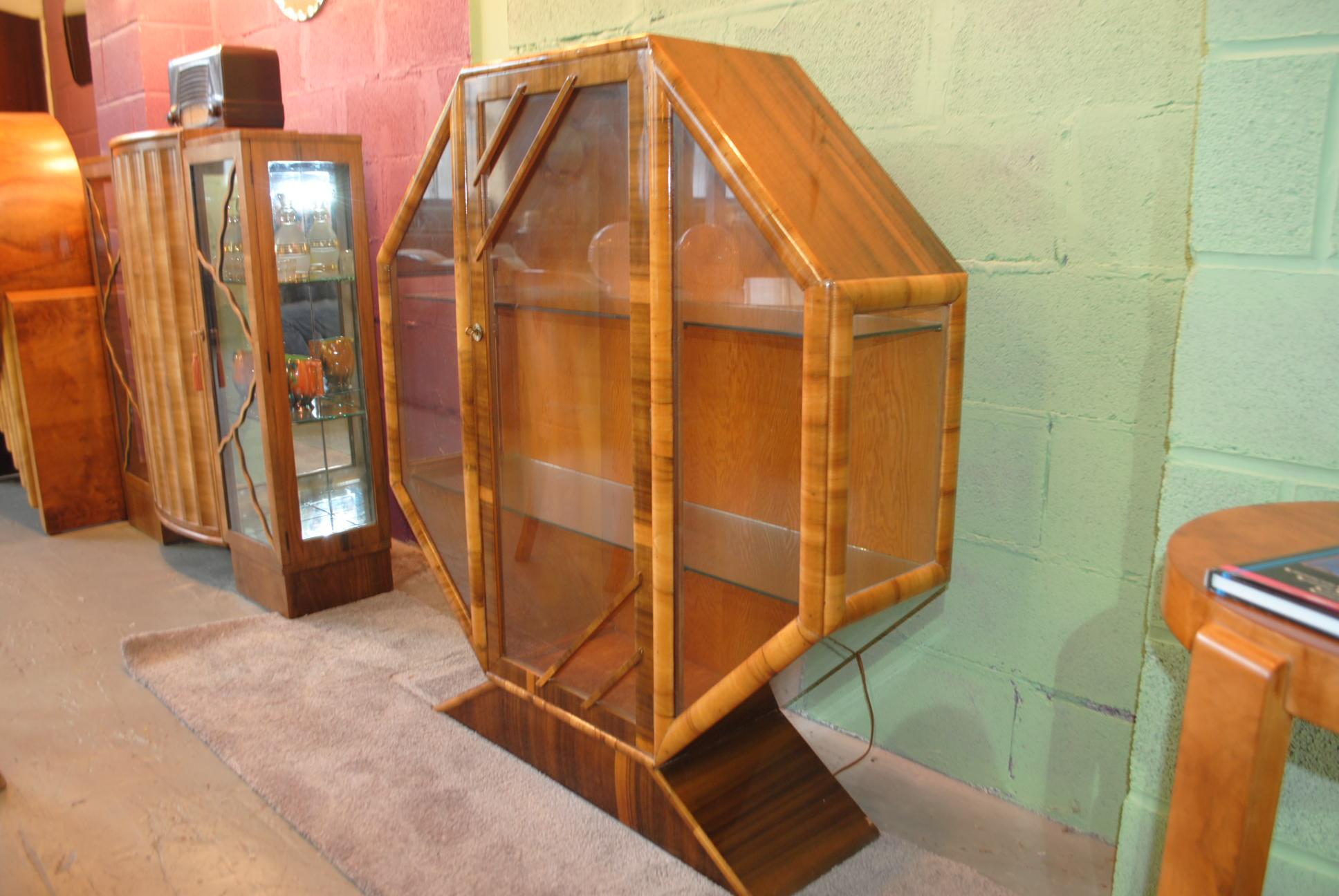 Art Deco Display Cabinet Cloud 9 Art Deco Furniture Sales