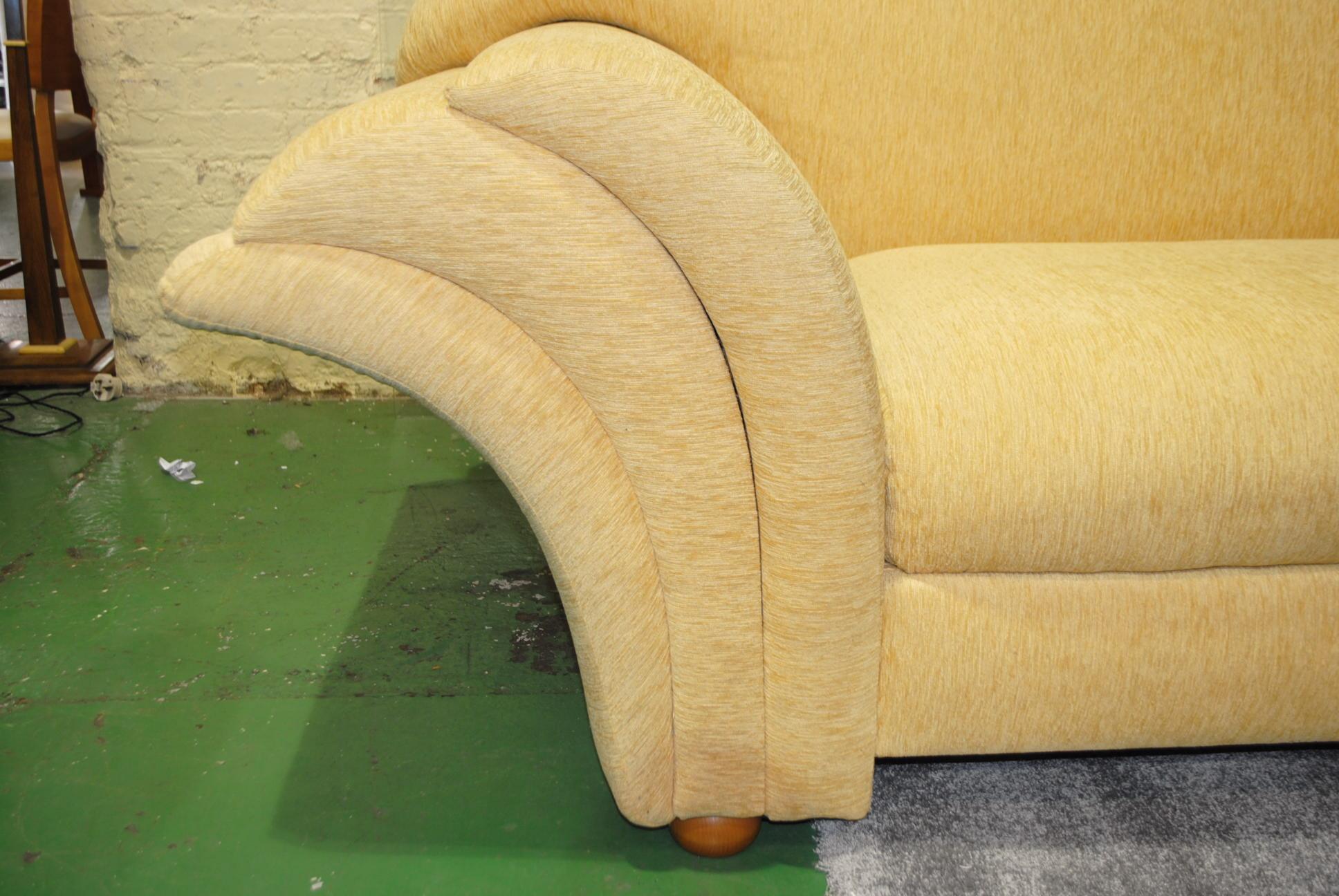 Large art deco chaise cloud 9 art deco furniture sales for Chaise furniture sale