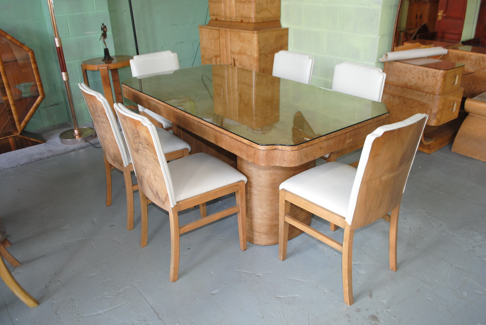 Art Deco Epstein Dining Table And 6 Chairs F 532 1