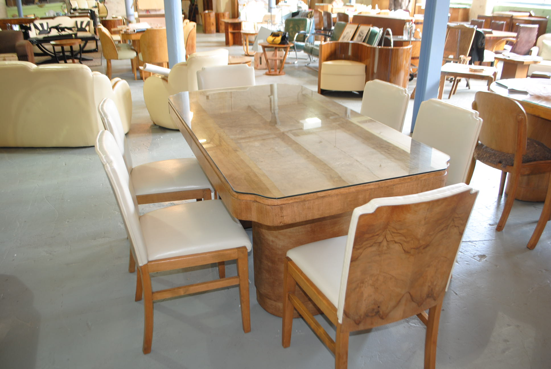 Art Deco Epstein Dining Table And 6 Chairs Cloud 9