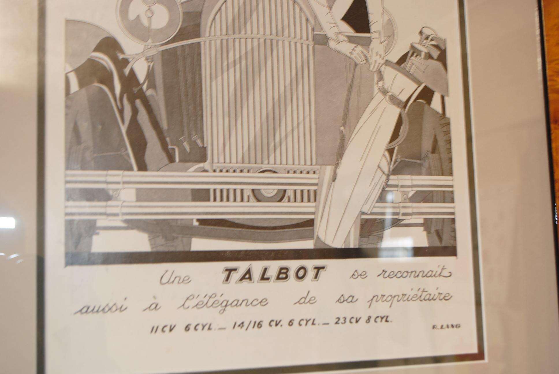 Art Deco 1930 S Advert For Talbot Automobiles Cloud 9