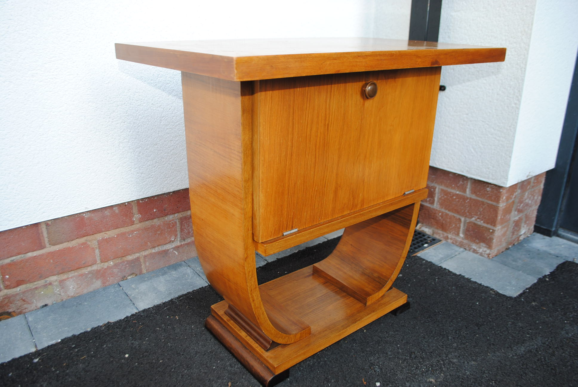 Original Art Deco Walnut Console Table || Cloud 9, Art Deco ...