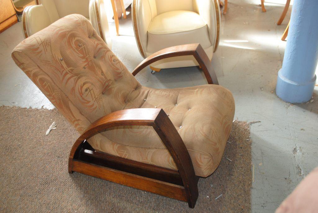 Original Art Deco Reclining Lounge Chair Cloud 9 Art