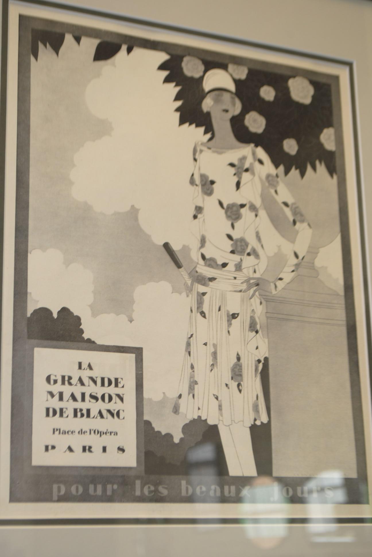original art deco framed advert la grande maison de. Black Bedroom Furniture Sets. Home Design Ideas